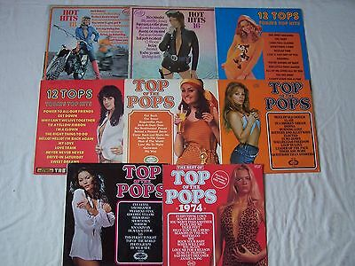 Joblot Of Top Of The Pops / Hot Hits / 12 Tops Etc Albums X 8 ~ Some Rare ~