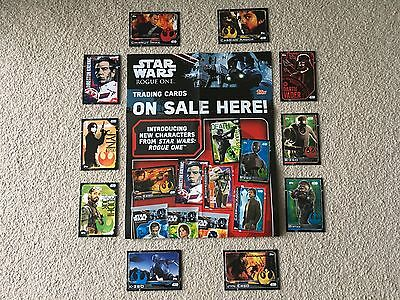 Star Wars ROGUE ONE Cards - Limited Edition, Foil, Plastic, Sticker