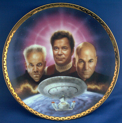 Star Trek Plate. The Ultimate Confrontation. Generations Collection. Hamilton