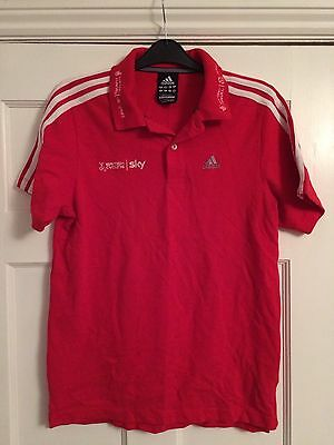 Adidas Polo Shirt Red Great Britain Team Sky Cycling