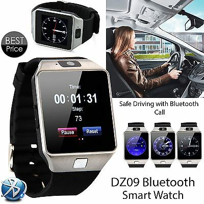 Bluetooth DZ09 Smart Watch HTC Samsung Android Phone With Camera SIM Slot