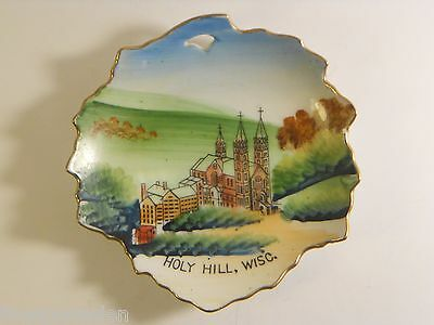 """HOLY HILL WISCONSIN Souvenir Plate ~ 4 3/4"""""""