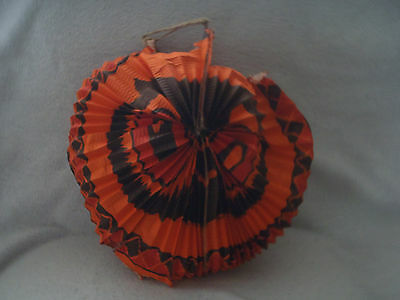 Vintage Halloween Paper Lantern, Hat, Table cloth and Metal Noisemaker