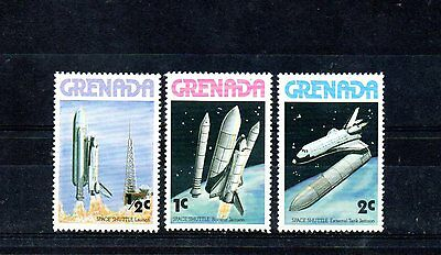 set of 3 mint space shuttle themed stamps
