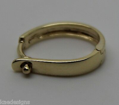 9ct Yellow gold Plain 13mm Large Size Enhancer Bail Clasp *FREE EXPRESS IN OZ*