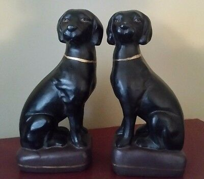 Black Lab Bookends HEAVY