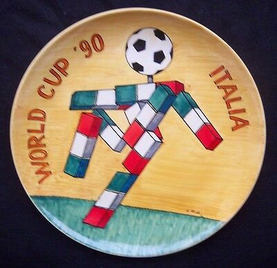 Orig.plate / Wall plate   World Cup ITALY 1990  -  mascot CIAO ! EXTREM RARE