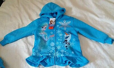 New With Tags. Disney Frozen Fleece Lined Hoodie. Rrp £30. Age 5 Years. Blue.