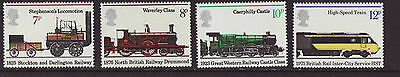 Great Britain 1975 MNH - Trains - set of 4 stamps