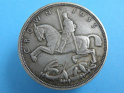 1935 King George V  'The Rocking Horse' - SILVER JUBILEE CROWN COIN - Good Grade