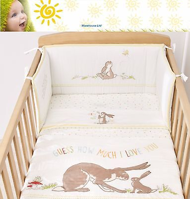 Guess How Much I Love You 4 Piece Cot Bed Set Coverlet Baby Toddler Peter Rabbit