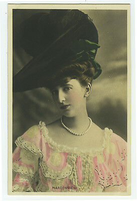 c 1907 French Theater MARCONNIER Music Hall Cabaret tinted photo postcard