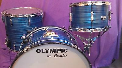 Premier Olympic Blue Silk Pearl set 70s 22/12/16 rare sizes vg condition!