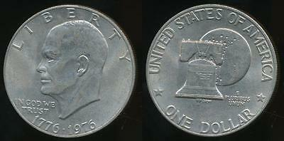 United States, 1976 One Dollar, $1, Eisenhower (Type 2) - almost Uncirculated