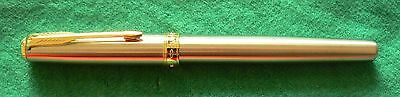 Parker Sonnet, New Model Stainless Steel Finish Fountain Pen With Gold Trim