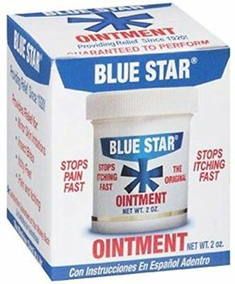 4 Pack Blue Star Anti-Itch Medicated Ointment 2 Oz Each