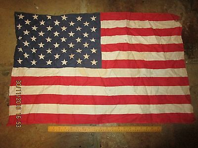 Vintage cotton American Flag ,post 1960 50 State /50 Star USA Stars & Stripes