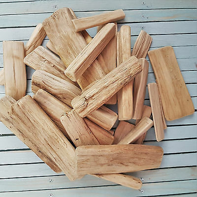 Approx 30 Pieces 500G Smooth Wooden Wood Driftwood For Craft Work Home Decor