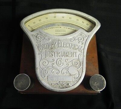 Whitney Electrical Instrument Ammeter 20th Century