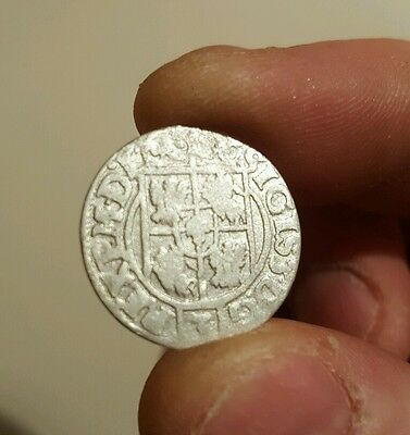 RARE MEDIEVAL SILVER HAMMERED COIN- GREAT DETAILS - Date 1621 uncirculated