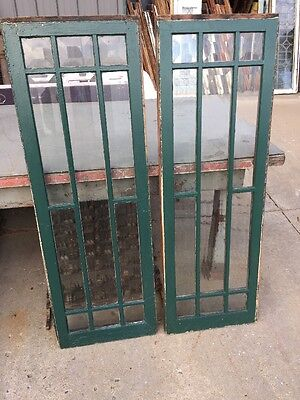 Sg 1201 Matched Pair Antique All Beveled Glass Transom Or Sidelight Windows