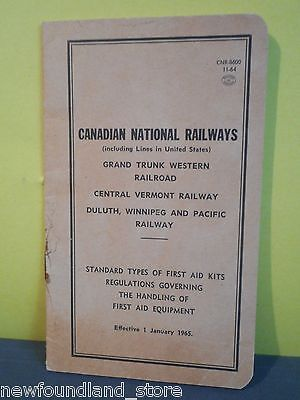 Cnr,canadian National Railways,first Aid Equipment Regulations Booklet 1964