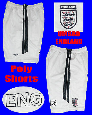 Umbro England Poly Shorts Size Large White