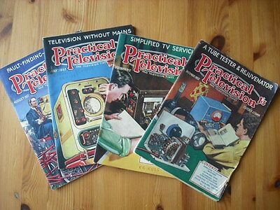 Four Vintage Practical and Television Times Television Magazines 1957