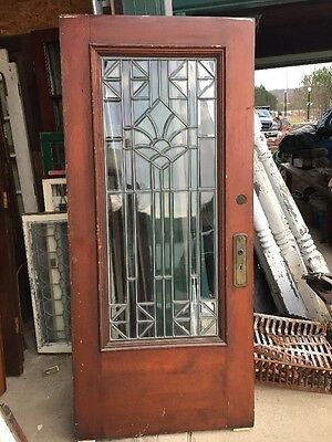 An 45 Antique All Beveled Glass Entrance Door 36 Inch X 79 3/8
