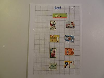 Collection of Sports on Stamps - 7 x Album Pages - Useful ?