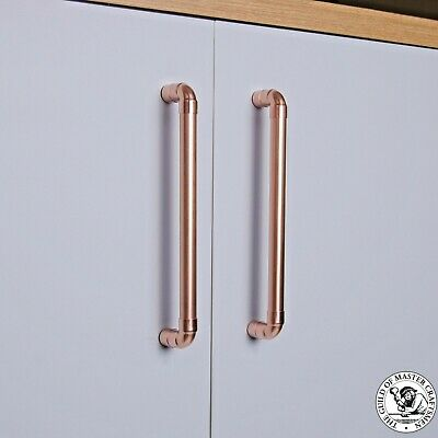 Modern Copper Pull Handle. Drawer Pull. Cabinet Hardware. Kitchen Cupboard