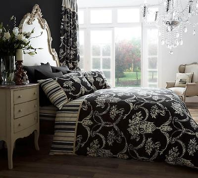 Christmas Sale Duvet Cover with Pillowcase Bed Set Richmond Black King