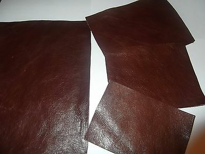 Saddle Brown 100% Leather Remnant Repair Patches / 4 Sizes To Choose From