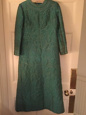 Quilted And Fully Lined Hostess Gown, House Coat Or Dressing Gown