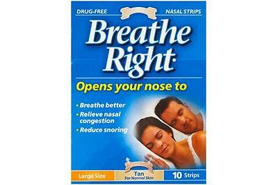 Breathe Right Nasal Strips 10 Clear For Sensitive Skin-Large