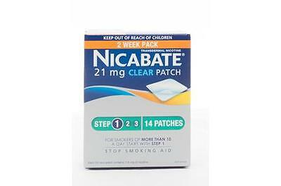 Nicabate Clear Patch 21 mg 14 PK- Step 1