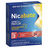 Nicabate Clear Patch 7mg 7 PK-Step 3