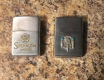 Lot Of 2 Zippos/ 1950's and Modern