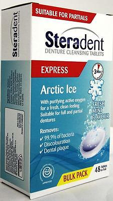 Steradent Express Arctic Ice Denture Cleansing -48 Tabs