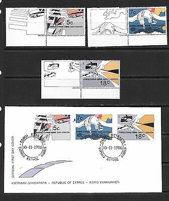Cyprus 1986 Road Safety  FDC and Stamp Mint Never Hinged