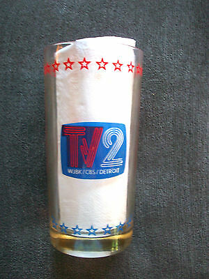 1776 - 1976 American Revolution Bicentennial Glass Tv2 Wjkb Cbs Detroit