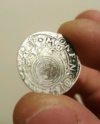 RARE MEDIEVAL SILVER HAMMERED COIN- GREAT DETAILS - Date 1626 Patina