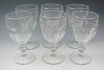 Lot of 6 Libbey Glassware GIBRALTAR-CLEAR Water Goblets EXCELLENT