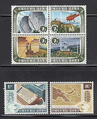 Papua 1973 Telecommunications  Sc 362a-364  complete mint never hinged