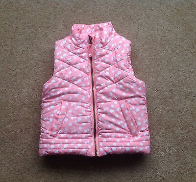 Girls toddler pink gilet Bodywarmer 2-3 years, mini club from boots.