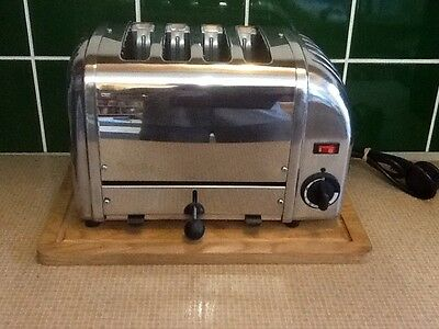 Dualit 4 Slice Vario toaster Stainless Steel Model D4BMH GB Fully Refurbished