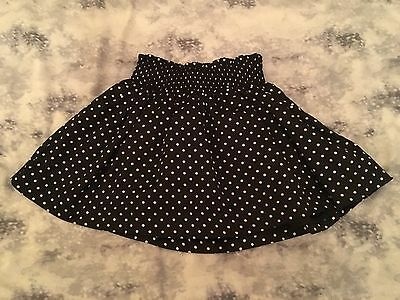 Children Kids Girls GAP Black And White Spotted Skirt. Age 4 Years