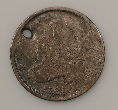 1835 Capped Bust Silver Dime ***Hole *G80