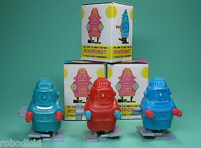 Full Set Of 3 Mini Robots  + Original Boxes!! From Old Store Stock!
