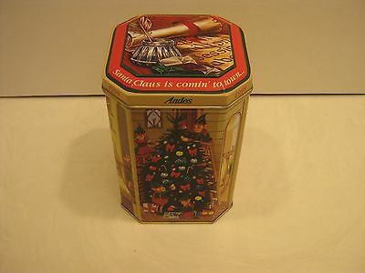 1998 Andes Collectible Santa Claus Is Comin' To Town Candy Tin